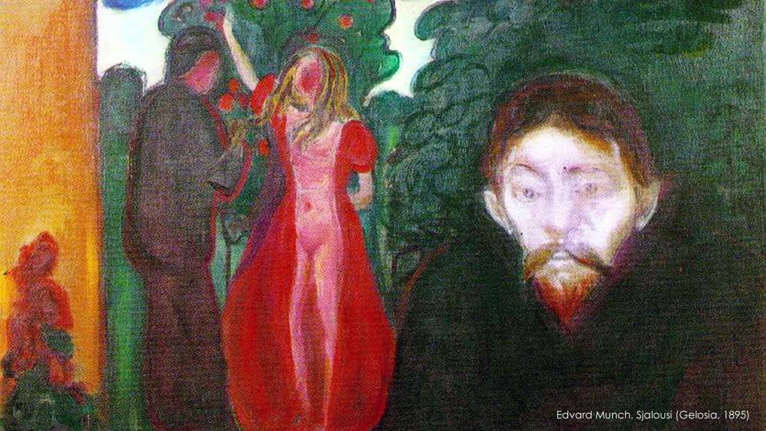 Come affrontare la gelosia. Edvard Munch, Sjalousi (Gelosia, 1895)